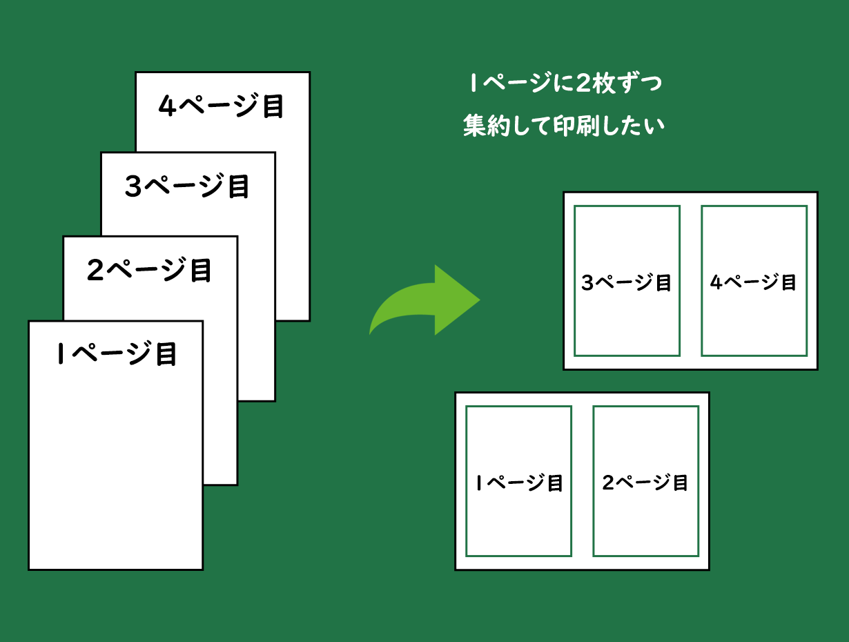 エクセル シート2枚 両面印刷